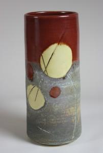 Red Stone Vase